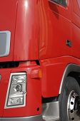 truck frontal chassi detail in red, no trademarks