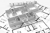Постер, плакат: 3D дома планы концепция