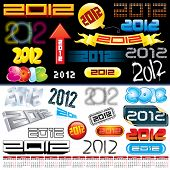 Next year labels, icons, tags and stamps - set of various conceptual vector design elements