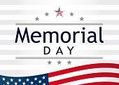 Memorial Day, Remember And Honor With Usa Flag, Vector Illustration. Happy Memorial Day Banner Templ poster