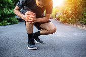 Men With Knee Pain While Jogging,men With Knee Pain While Jogging poster