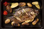 Tilapia roasted with vegetable