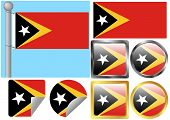 Flag Set Timor-leste