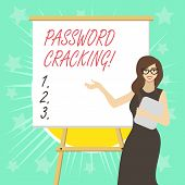 Text Sign Showing Password Cracking. Conceptual Photo Measures Used To Discover Computer Passwords F poster