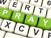 Постер, плакат: Молитесь компьютерные клавиши вероисповедания и религии