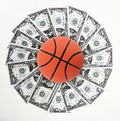 Basket and money poster