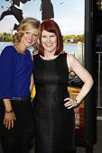 LOS ANGELES, CA - FEB 16: Kate Flannery; Arden Myrin at the premiere of Universal Pictures' 'Wanderl