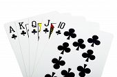 Royal Flush Cross For Poker Closeup