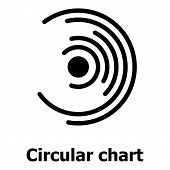 Circular Chart Icon. Simple Illustration Of Circular Chart Icon For Web. poster
