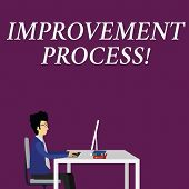 Writing Note Showing Improvement Process. Business Photo Showcasing Ongoing Effort To Improve Produc poster