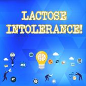 Handwriting Text Lactose Intolerance. Concept Meaning Digestive Problem Where Body Is Unable To Dige poster