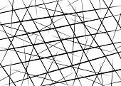 Random Chaotic Lines, Scattered Lines, Random Chaotic Lines Asymmetrical Texture Vector Abstract Art poster