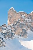 Snow Covered Alpine Mountain Peak