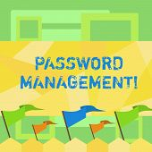 Handwriting Text Writing Password Management. Concept Meaning Software Used To Help Users Better Ana poster