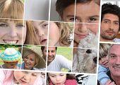 Постер, плакат: дети родители и бабушки и дедушки