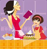 two confectioners (mum and daughter)