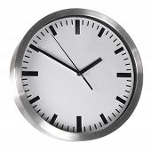 White Classic Office Clocks Isolated On White