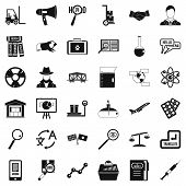 Academic Icons Set. Simple Set Of 36 Academic Icons For Web Isolated On White Background poster