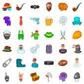 Stuff Icons Set. Cartoon Set Of 36 Stuff Icons For Web Isolated On White Background poster