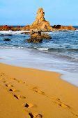 a view of Cala Pregonda beach in Menorca, Balearic Islands, Spain