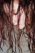 Woman With Wet Hair.