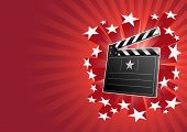 stock photo of crew cut  - clapboard and stars - JPG