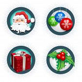 Christmas icon collection. Four christmas icon.