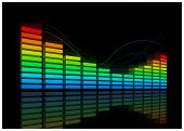 Electro Equalizer. Vector music background. Elements are layered separately.