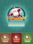 Super Santa Claus. Christmas banner set. All elements are layered separately in vector file. Easy ed