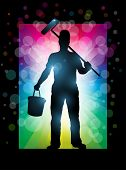 Master painter vector illustration. Elements are layered separately in vector file. EPS10