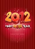 Happy new year 2012! New year design template. All elements are layered separately in vector file. E