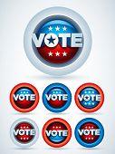 Emblemas de votação. Conjunto de símbolo de vetor