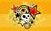 skull cartoon background
