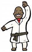 karate man cartoon