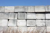 foto of cornerstone  - stack of concrete blocks - JPG