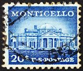 Postage Stamp Usa 1956 Monticello