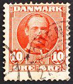 Postage Stamp Denmark 1907 Frederik Viii, King Of Denmark