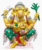 stock photo of ganapati  - Hindu ganesha God Named Maha Ganapati at temple in thailand - JPG