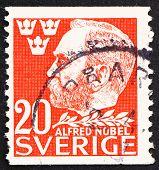 Estampilla Suecia 1946 Alfred Nobel, Inventor y Philanthrop