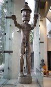 giant human figure woodcarving at museum of anthropology