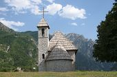 Catholic Church in Theth Valley, Albania, was built in 1892 but during the Hoxha regime it was closed; thanks to the Albanian diaspora living in the USA, the church today has been reopened