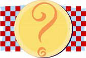 Place setting with question mark