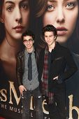 NEW YORK-DEC 10: Alex Wolff and Nat Wolff (R) attend the premiere of