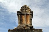stock photo of atonement  - Tomb on the ruins of Ksanfos in Turkey - JPG