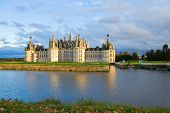 picture of chateau  - Chambord chateau at sunset - JPG