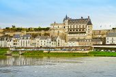 Amboise over Loire river, France