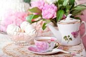 picture of sugar paste  - Tea in the Shabby Chic style - JPG