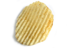 image of potato chips  - isolated potato chip - JPG
