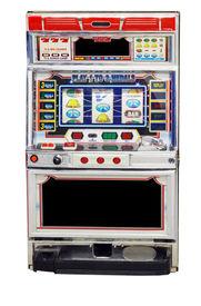 foto of slot-machine  - isolated slot machine on a white background - JPG