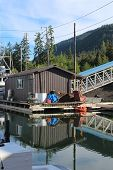 Float House in Alaska Harbor